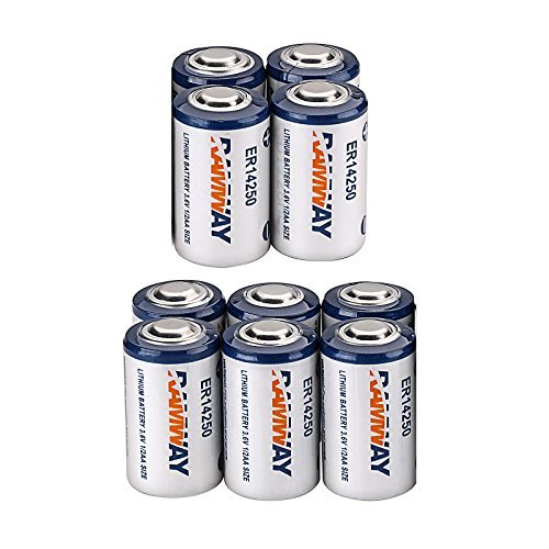 10 x Li-ion 3.6V 1/2AA ER14250 LS14250 ER14250H 1200mAh Meter Battery Household Batteries