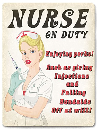 NURSE RN hospital Office Metal Sign FUNNY plaque vintage style great gift wall decor 570