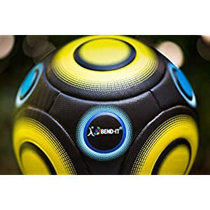 Bend-It Soccer, Knuckle-It Pro Yellow, Soccer Ball Size 5, Official Match Ball With VPM And VRC Technology (Yellow, 5)