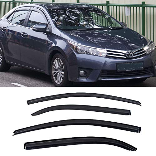 Toyota Corolla Auto Body - Laprive Auto 4pcs for 2014-2019 Toyota Corolla Sun Rain Guard Vent Shade Window Visor