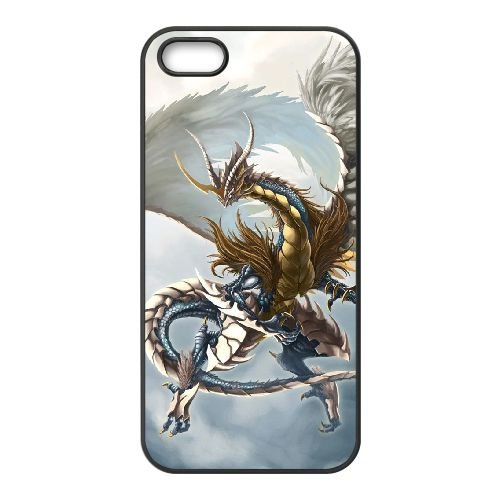 H4R77 Dragonnier H6E1MC coque iPhone 5 5s cellule de cas de téléphone couvercle coque noire WS5GCE3XZ