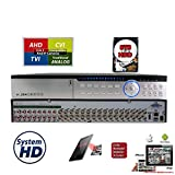Evertech 32Ch DVR with 8TB Hard Drive H.264 High-Definition Hybrid TVI AHD CVI Analog Home Office CCTV Security Digital Video Recorder w/8TB HDD Installed and Pre-Configured