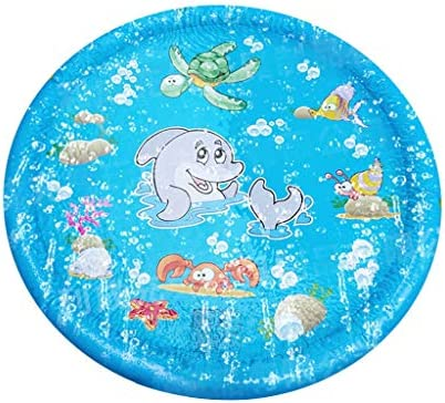 Ikevan 39.3 Inches Sprinkler Pad Splash Play Mat Fun Water Toys For Boy Girl Kids Kids Outdoor Summer Fun Game Party Toy Sprinkler Pad Play Mat Water Toys / Ikevan 39.3 Inches Sprinkler Pad Splash Play Mat Fun Water Toys For Boy Gi...
