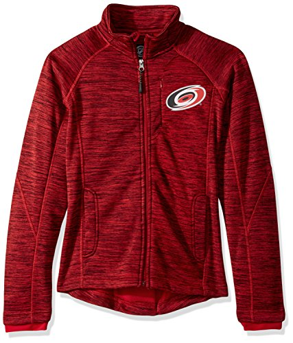 GIII For Her NHL Carolina Hurricanes Women's Hand Off Full Zip Jacket, Small, Red