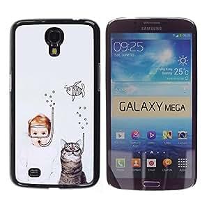 Dragon Case - FOR Samsung Galaxy Mega 6.3 - Love is not madness - Caja protectora de pl??stico duro de la cubierta Dise?¡Ào Slim Fit