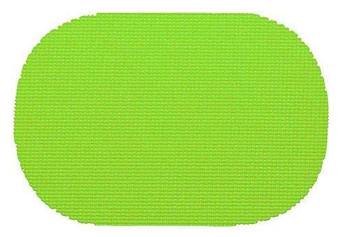Kraftware 37636フィッシュネットオーバルプレースマットDzを。ライムグリーン  Lime Green Greens B005HOOM8A