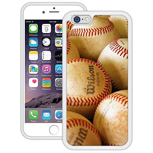 Baseballs | Handgefertigt | iPhone 6 6s (4,7') | Weiß TPU Hülle