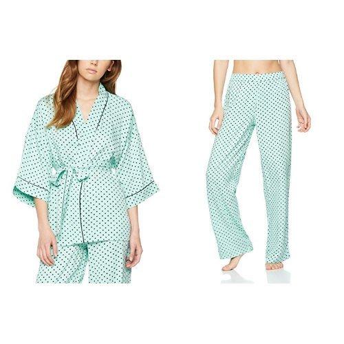 10d45a2e21 Iris   Lilly Women s Twill Floral Print Kimono and Pyjama Bottoms ...