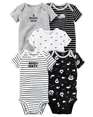 Carter's Baby Boys' 5 Pack Bodysuits (Baby) Ahoy Mate, Newborn