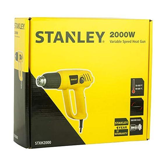 STANLEY STXH2000 2000W Variable Speed Heat Gun (Yellow and Black) 7