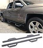 nerf bars 2007 chevy crew cab - Chevy Silverado GMC Sierra Crew Cab Hoop Textured Black Side Steps 2007 -2018 (Don't fit Diesel Models) (Nerf Bars | Side Steps | Side Bars)