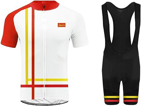 Uglyfrog Equipo de España Verano Hombre Cycling Jersey Maillot Ciclismo Mangas Cortas Camiseta de Ciclistas Ropa Ciclismo TGQX03: Amazon.es: Deportes y aire libre