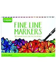 Crayola Fine Line Markers, 40 Count, Assorted Colors, Adult C...