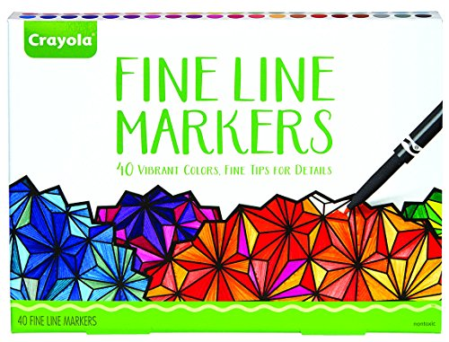 Crayola Fine Line Markers  40Ct Fine Tip Markersfor Details Adult Coloring Supplies