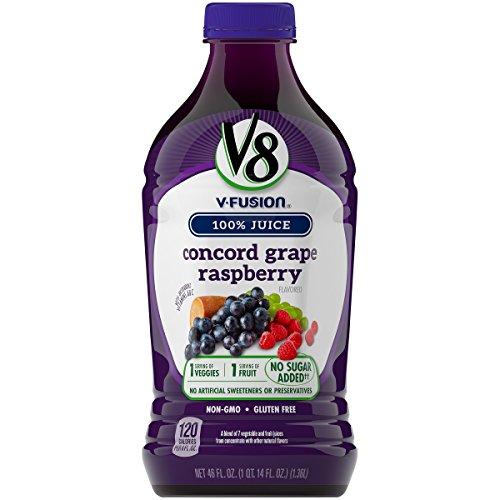 V8 Concord Grape Raspberry, 46 oz. Bottle (Pack of 6)