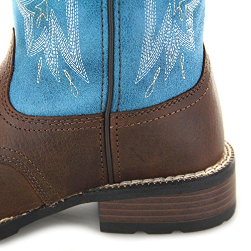 Brown Cowboystiefel FB Drd0135 Fashion Teal Damen Boots 1zqqpZXS