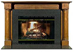 "Kaco International M800-3600-RC John Adams Stately Red Cherry Finished 36 inch John Adams Fireplace Mantel Kaco M800-3600-RC # 36""/Small by Kaco International"