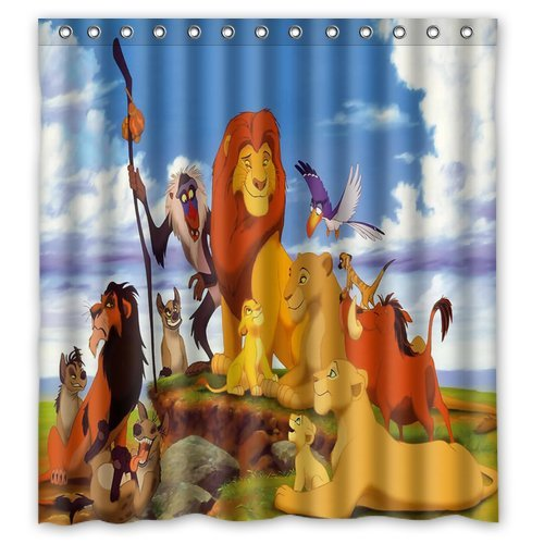"ScottShop Custom The Lion King Mildew Resistant Anti-Bacterial Shower Curtain 66 ""x 72"" Inch"