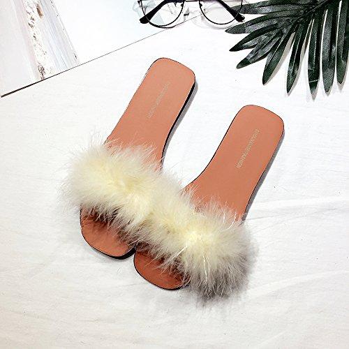 marea personalità 38 habuji marea con bassa femminile bianco con estate sbandata Estate moda pantofole bassa Rff8vq