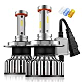 #7: H11/H8/H9 LED Headlight Bulbs - 100W 12000LM - CSP Chips - DOT Approved - 360 Degree High/Low Dual Beam Light by Mdatt