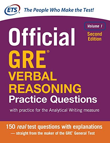 Pdf Test Preparation Official GRE Verbal Reasoning Practice Questions, Second Edition, Volume 1