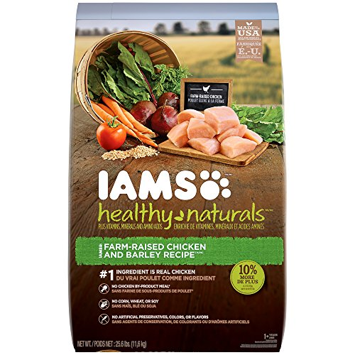 Iams HEALTHY NATURALS Adult Chicken and Barley Recipe Dry Dog Food 25.6 Pounds