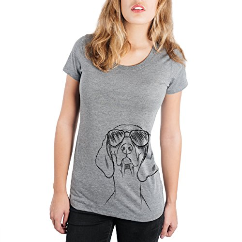 Inkopious Sawyer The Vizsla Women's Triblend Slim Fit T-Shirt Ladies Crewneck Large Grey