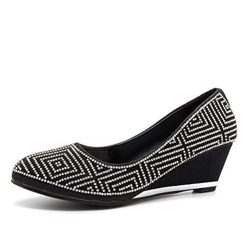 Con Footwear Donna Black Sandali Zeppa London vn1qwERn