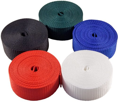 Country Brook Design | 1 1/2 Inch 5 Yards of 5 Colors Heavy Polypro Webbing by Country Brook Design
