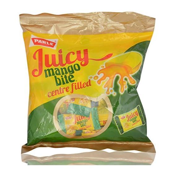 Parle Juicy Mango Bite Candies - Centre Filled, 247.5g Pouch