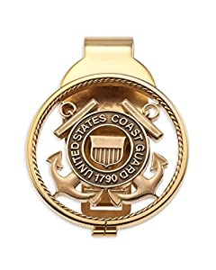 The Difference World Coin Jewelry Coast Guard Money Clip,United States Coast Guard Gifts, (# CBCM) from The Difference World Coin Jewelry