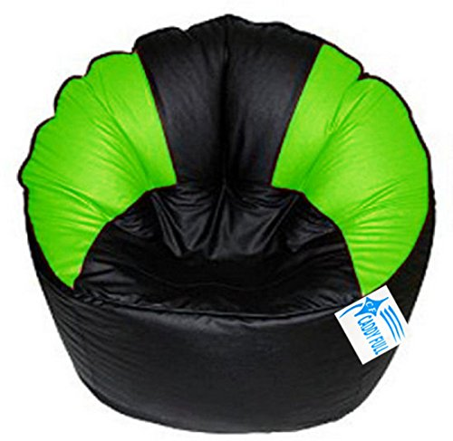 CADDYFULL XXXL Muddha Chair Without Beans  Black and Green  Bean Bag Covers
