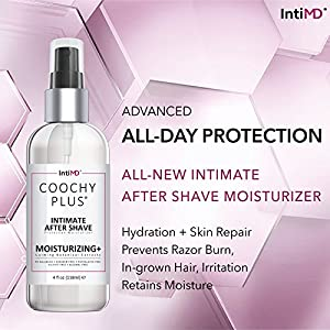 COOCHY PLUS Intimate After Shave Protection Moisturizer By IntiMD: Delicate Soothing Mist For The Pubic Area & Armpits – Antibacterial & Antioxidant Formula For Razor Burns, Itchiness & Ingrown Hairs
