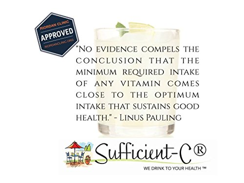 Sufficient-C High Dose Non-GMO Vitamin C - Lemon Peach Immune-Ade drink mix 250 grams by Sufficient-C (Image #4)