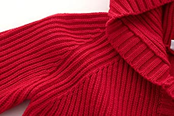/Ãzhido Baby Knit Cardigan Sweaters Toddler Girls Button up Hoodie Long Sleeve Warm Outerwear Coat Red