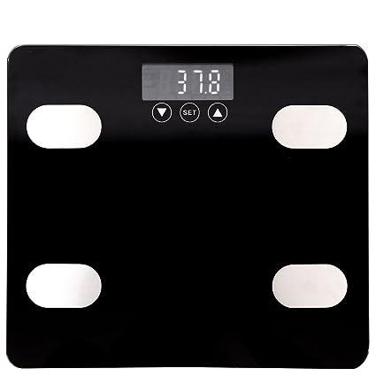Báscula de grasa corporal, pantalla digital inteligente, báscula de baño de cuerpo completo,