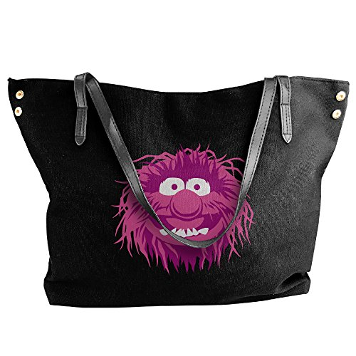 cute-muppets-pink-monse-canvas-shoulder-bag-large-tote-bags-women-shopping-handbags