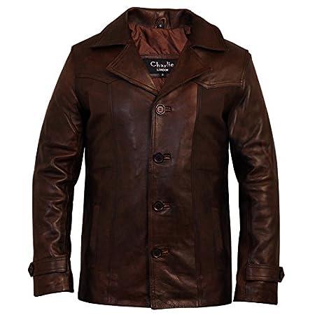 Charlie LONDON Men's Heist Antique Vintage Brown Leather Jacket 51j 2BD4oMLiL