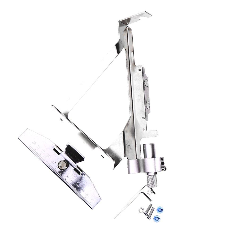 MagiDeal Outil En Acier Inoxydable Pour Empennage Flèches Garniture De Plume Accessoire Tir à l'arc 28 x 20 x 6cm