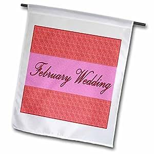 Yves Creations Textured Text Elements - February Wedding - 18 x 27 inch Garden Flag (fl_5924_2)