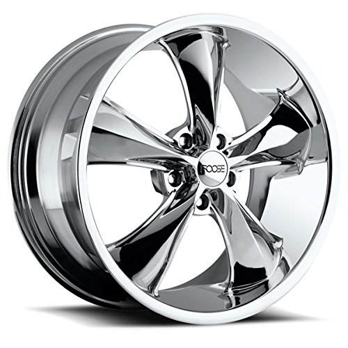 Foose Legend 20 Chrome Wheel / Rim 5x4.75 with a 7mm Offset and a 72.60 Hub Bore. Partnumber F10520856150