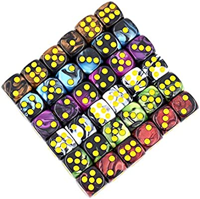 Yellow//Red 12MM d6 TOXIC DICE set