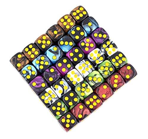 6 sided dice set 12mm - 4