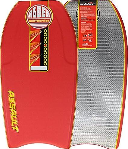 de 112 cm n/úcleo de EPS Tabla de bodyboard de Alder Assault canales 60//40 y slick de HDPE con crescent tail