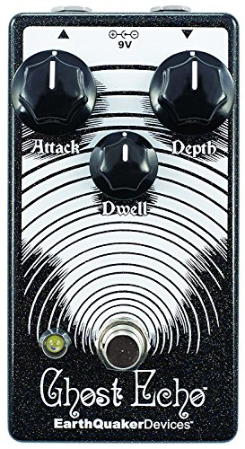 EarthQuaker Devices Ghost Echo Delay & Reverb Effects Pedal with Depth, Dwell, and Attack Controls Guitar Effect Pedal Package (included) 2 Patch Cable and Zorro Sounds Guitar Polishing Cloth