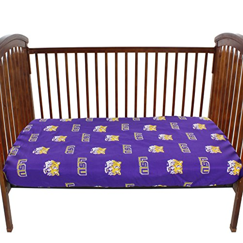 College Covers LSU Tigers Pair of Fitted Crib Sheets, 28