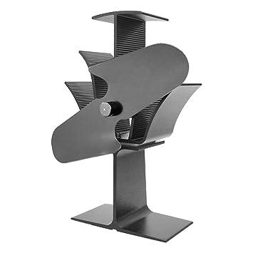 Ventilador de estufa movido a calor de Lincsfire, circulador de aire para quemador de madera