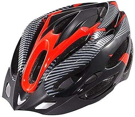 Proberos® Generic Cycling Helmet,Bicycle Adult Bike Safe Helmet Carbon Hat with Visor 19 Holes Red