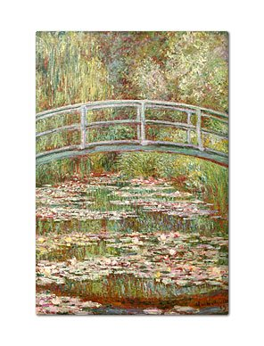 Bridge over a Pond of Water Lilies painted by Claude Monet