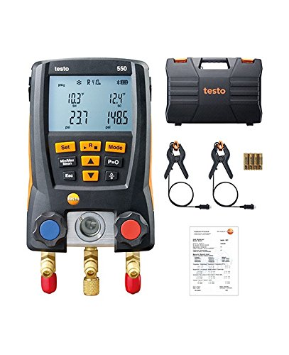 Testo 0563 1550 Digital Manifold Kit, Bluetooth Supported